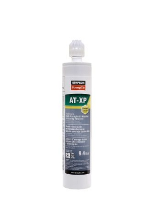 AT-XP10 9.4 oz. Single Tube Acrylic Adhesive w / nozzle.