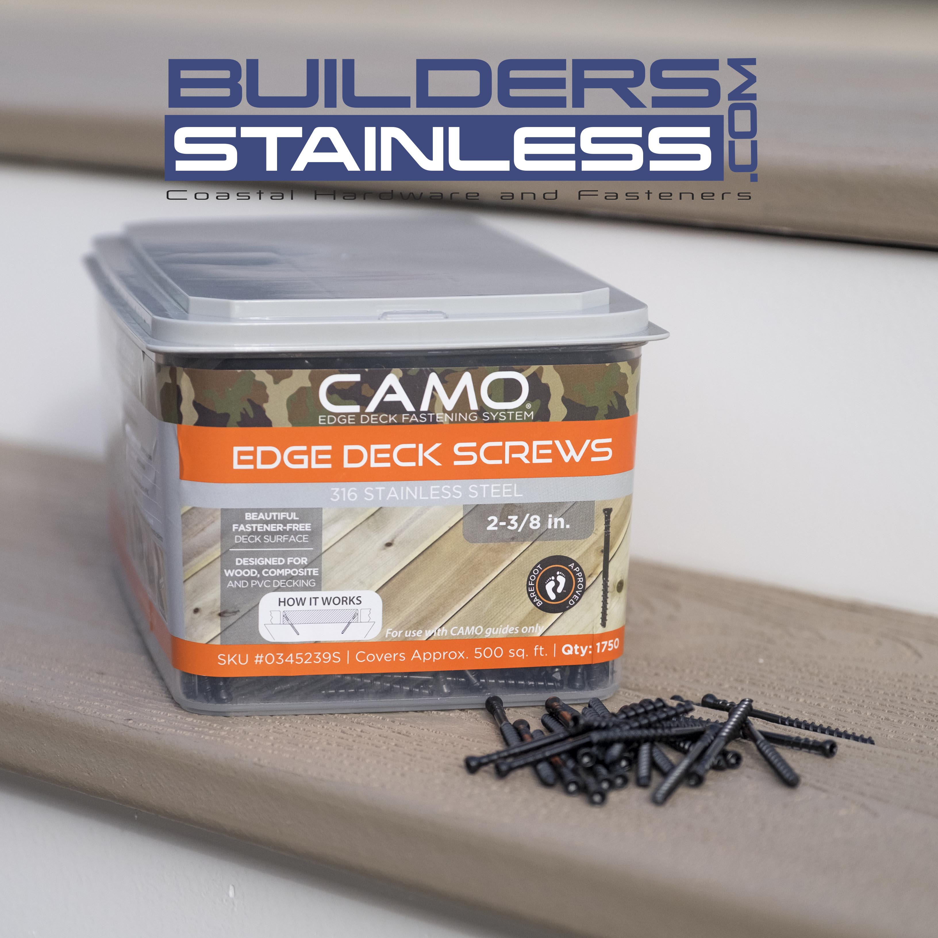 Camo 2-3/8 in  316 Stainless Steel Trimhead Deck Screw (1750-Count)