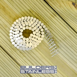 "1"" x .120"" Wire Coil Roofing Nail, 304 SS"