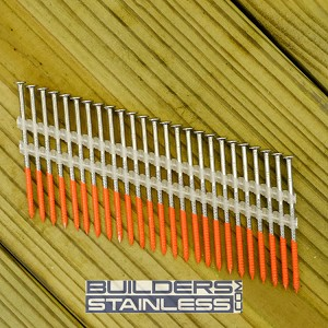 "3"" x .120"" Plastic Strip RS Nail, 316 SS"