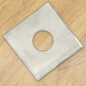 "1"" x 3"" x 3/16"" Square Plate Washer, 304 SS"