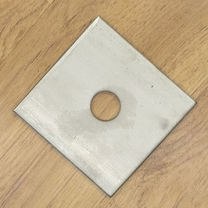 "1/2"" x 3"" x 3/16"" Square Plate Washer, 304 SS"